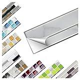 Wandaro 6er Set Fliesenaufkleber 26 x 4,2 cm Grau Marmor Silber Dunkelgrau Ziegel Design 18 I 3D Aufkleber Fliesenfolie Mosaik Bad Küche W3467
