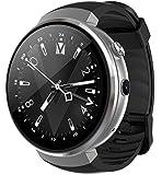 LEMFO LEM7 - Android 7.0 4G LTE Smartwatch, Uhr Telefon 2MP Kamera, MT6737 16GB ROM, eingebauter Übersetzer, Powerbank, Bluetooth / GPS / Pulsmesser - Silber