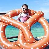 Riesiges Aufblasbares Schwimmbrezel Pool Floß Schwimmring Luftmatratzen 120cm x 86cm