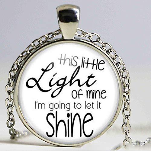 This Little Light of Mine Halskette christliche Lieder Urlaub Bibelschule Kirche Freund Geschenk religiöser Frauen Männer Schmuck