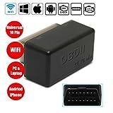 OBD2 Diagnosegerät WiFi Mini OBD2 adapter für Android Smartphones und Windows OBD2 WiFi Auto-Scanner Geeignet für die meisten Autos & LKW-WildAuto