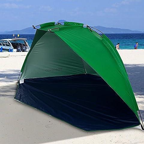 Wynce (TM) tenda rapida di apertura Beach tenda da sole Shelter semiaperta impermeabile Ultralight tenda Ombra per il campeggio esterno di picnic di pesca Parco