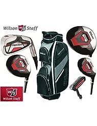 Wilson Prostaff-Fers en acier-Shafted HDX & fibre HDX Woods Super Deluxe Club de Golf & Prostaff pour homme-Noir/gris anthracite-Sac de Golf pour homme nouveau pour droitier 2016 (édition limitée uniquement disponibles dans la boutique de Golf 4u) Ltd