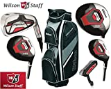 Wilson Prostaff Steel Shafted HDX Irons & Graphite Shafted HDX Woods Super Deluxe Mens Complete Golf Club Set & Prostaff Black/Charcoal Cart Bag Mens Right Hand New For 2016 (Limited Edition, Only available from The Golf Store 4u Ltd)