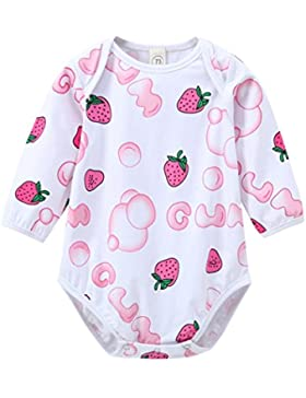 Outfits Janly 0-24 Monate Mädchen Strampler Neugeborenes Baby Schöne Erdbeere Druck Overalls
