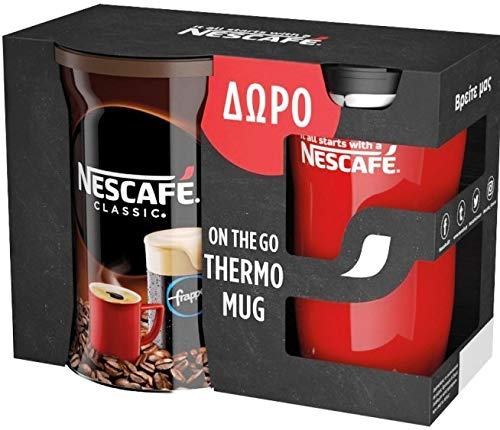 Greek Nescafe Classic 200g + On The Go Thermo Mug