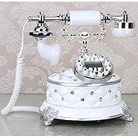 HGJSMN Telefono Retro Vintage Telefono Moda Creativo Antique Home Office Studio Camera da Letto Soggiorno con Suoneria Classica in Metallo (Color : White)