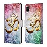 Officiel Brigid Ashwood Om Symboles Sacré Étui Coque De Livre en Cuir pour iPhone...