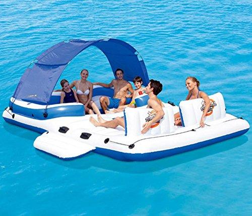 Riesen-Ozean-Schwimmen-Insel-Aufblasbare Schwimmen-Sich Hin- Und Herbewegende Reihen-Sich Hin- Und Herbewegende Bett-Erwachsenes Kinderpool-Aufblasbares Wasser-Spielzeug-Pool, Ozean-See, Für 6-8 Leute