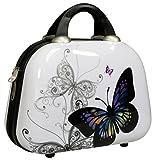 Wunderschöner Beautycase in Hartschale, Schminkkoffer Kosmetikkoffer, passend zu Kofferset Butterfly