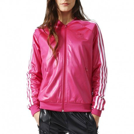 adidas Damen Superstar Originals Jacke, Blast Pink, 42