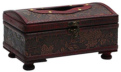 Chic*Mall Retro-Aufbewahrungsbox für Taschentücher, eleganter Stil, Spenderbox aus Holz - Gesichts-gewebe-marken