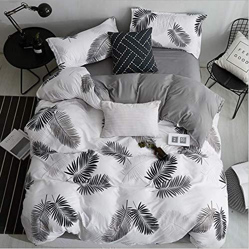 SHJIA Bettwäsche Set Striped Duvet Cover Wendbare Tagesdecken Queen Tropical Bettwäsche weiß 180x220cm (Cover Queen Mint Duvet)