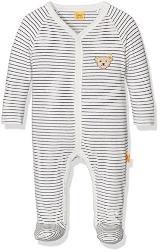 Steiff Baby-Jungen Strampler 1/1 Arm, Mehrfarbig (y/d Stripe 0001), 62