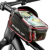 Limiwulw Fahrrad Rahmentasche, Fahrrad Front Top Tube Touchscreen Tasche Wasserdicht Handyhalter