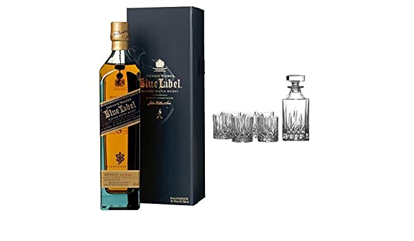 b11b57c701b7 Johnnie Walker Blue Label Blended Scotch Whisky and Royal Doulton Crystal  Decanter Seasons Set  Amazon.co.uk  Grocery