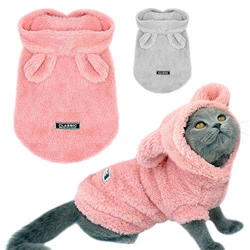 ZLALF Warme Katze Kleidung Winter Haustier Welpe Kätzchen Mantel Jacke Für Kleine Mittlere Hunde Katzen Chihuahua Yorkshire Kleidung - Kuscheliges Kätzchen Kostüm