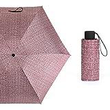 KEKEDA uomo donna Leggero antivento anti UV ombrello compatto 5tasca pieghevole ombrellone viaggio speciale protezione UV 4colori opzionale fucsia Fuchsia
