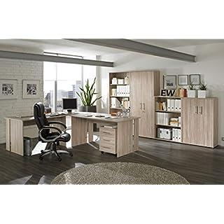 Büromöbel Büro Möbel Set Arbeitszimmer Omega 8-teilig Dekor Sonoma Eiche