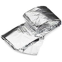 10pcs plateado Mylar rescate de emergencia a prueba de agua Espacio Foil Manta térmica