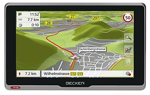 Becker active.6s CE Navigationsgerät (15,8 cm ( 6,2 Zoll ) kapazitives Echtglasdisplay, 20 Länder, lebenslange Kartenupdates, TMC, Blitzerwarner) schwarz