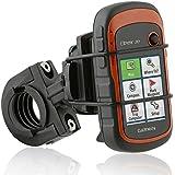 Wicked Chili Fahrrad / Roller / Lenker-Halterung mit Sicherungsband für Garmin eTrex, Dakota, Oregon, Approach, Astro, GPSMAP (passgenau, QuickFix, Made in Germany)