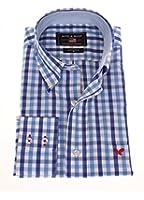 1415240 Bots & Bots Hemd 100% Baumwolle Kariert Normal Fit Farbe Blau Kariert