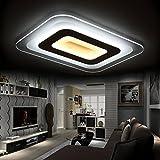 moderne, minimalistische led lampe aus ultra - slim - wohnzimmer schlafzimmer esszimmer lampe kreative streifen studie lampe,[weiß] 45 * 45cm neihuang außerhalb der weißen kasten