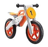 BIKESTAR Kinderlaufrad Lauflernrad Kinderrad für Jungen und Mädchen ab 3-4 Jahre | 12 Zoll Kinder Laufrad Motorrad Holz | Orange