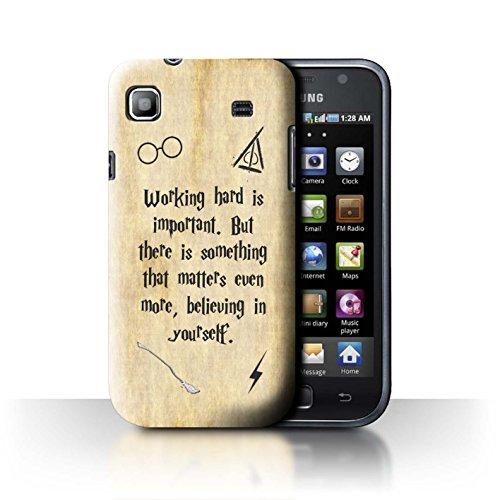 Stuff4® Hülle/Case für Samsung Galaxy S/I9000 / Working Hard/Believe Muster/Schule der Magie Film Zitate Kollektion I9000 Hard Case