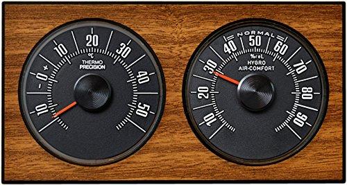 Analoge Wetterstation Thermometer Hygrometer 1972 Eiche RICHTER / HR Art. 47036