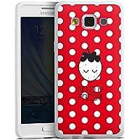 Samsung Galaxy A5 (2015) Silikon Hülle Case Schutzhülle Erdbeere Strawberry Punkte