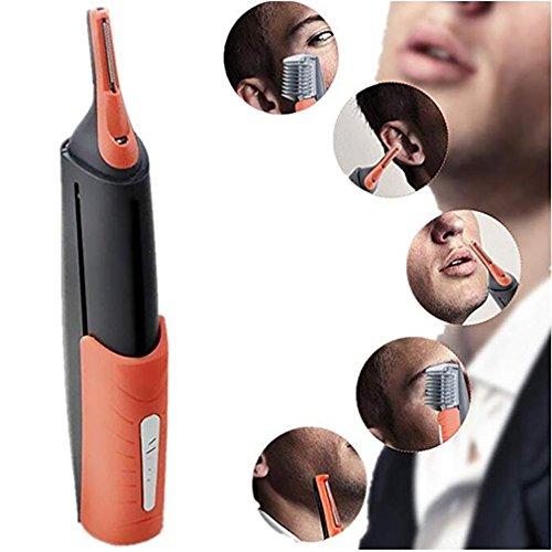 Nose Hair Trimmer Dual End Tondeuse Clipper Micro Barbe Personnelle Cheveux Tondeuse Tondeuse Rasoir Toilettage Anti-Dérapant Poignée De Contrôle LED Lumière