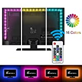 LED TV Backlight, Vansky Bias Lighting for 40-60 inch HDTV 6.6ft RGB USB Powered, Led Strip Lights w/RF Remote Controller for PC Monitor Home Theater【Reduce Eye Fatigue and Increase Image Clarity】