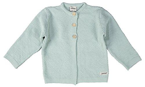 PAPFAR Unisex Baby Pullover Strickjacke, Grün (Aqua 222), 56 (Herstellergröße: 0M) (Aqua-strickjacke)