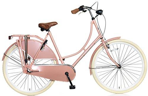 28 Popal Omafiets OM28 S3 Damen Holland Fahrrad 3 Gang, Farbe:lachs