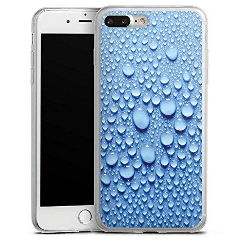 Apple iPhone X Slim Case Silikon Hülle Schutzhülle Wasser Tropfen Muster Silikon Slim Case transparent
