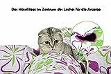 TAILMATE Katzentunnel mit 4 Röhren, Lila Blumen-Design, Faltbare, Raschelndes Material(Lila-4 Röhren) - 3