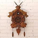 Wall Clock WERLM Persönlichkeit Design Home Decor Kunst Uhr Hirschkopf Dekorative Wanduhr Kuckuck Fenster Sanduhr Wanduhr 20 Zoll Ideal für Home Küche Büro Schule Ideal für Jeden Raum, A