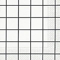 Tovaglioli da tavola a quadri, colore: bianco/nero (Home Square White/Black)