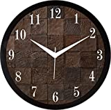 IT2M Round 11.75 inch Wall Clock with Glass Cover (9172)
