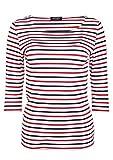 Saint James Garde-cote - Streifenshirt - Bretagne-Shirts (36 / T 38, Multico Neige Tulipe)
