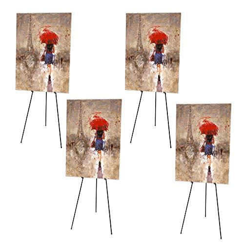 Kurtzy 4-teiliges Staffelei Ständer Set - Atelierstaffelei - Klappbare Feldstaffelei - Stativ Staffelei für Künstler Kunst Handwerk Anzeige Zeichenbrett Künstler Skizze, Tragbare Ausstellungs Malstaff