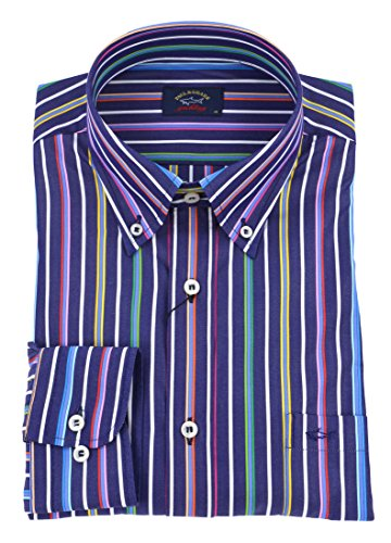 Paul & shark uomo camicia button down righe multicolor p18p3292 019-26327 - 39