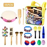 Child Percussion Instrument Set NASUM Musical Instruments Rhythm Toys Set for Kids,Colorful Design,Educational