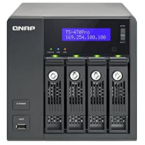 QNAP 8TB (Desktop Class HDD) 4-bay home & SOHO NAS for personal cloud and multimedia experience