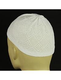 White Knit Kufi Skull Prayer Cap
