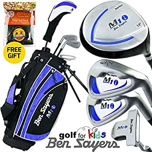 """NEW 2017"" BEN SAYERS JUNIOR M1i BLUE COMPLETE GOLF SET 9-11 YEARS"