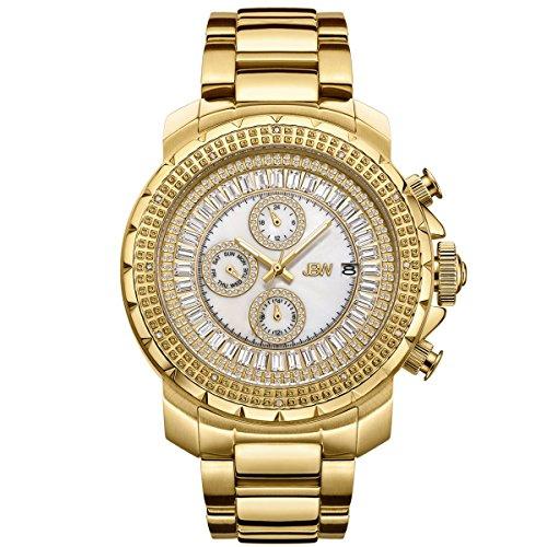 Jbw orologio da uomo con cristalli Swarovski diamante oro