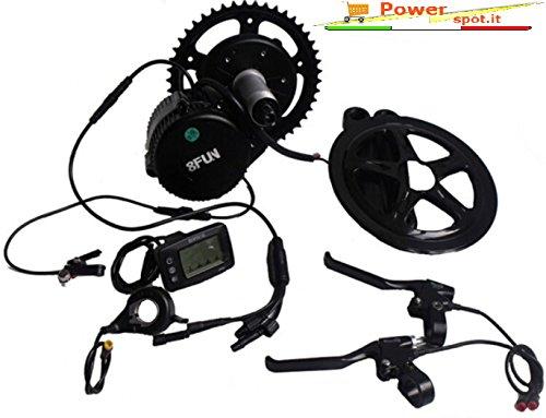 8Fun Bafang BBS02 - Kit motore con movimento centrale per bici elettrica, 48 V, 500 W